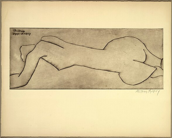 Nude with Long Torso (Reclining Nude)