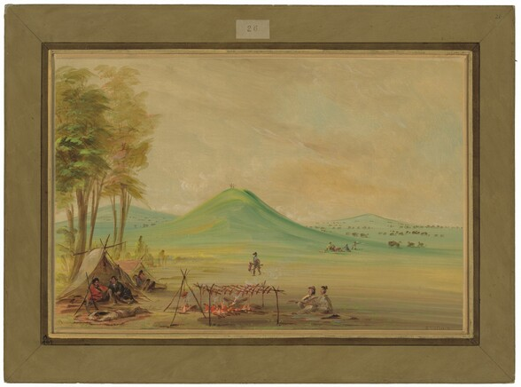 Expedition Encamped on a Texas Prairie.  April 1686