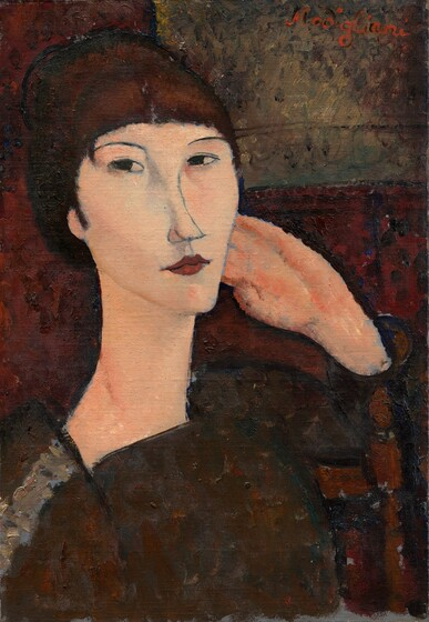 <p>Amedeo Modigliani, Adrienne (Woman with Bangs), 1917