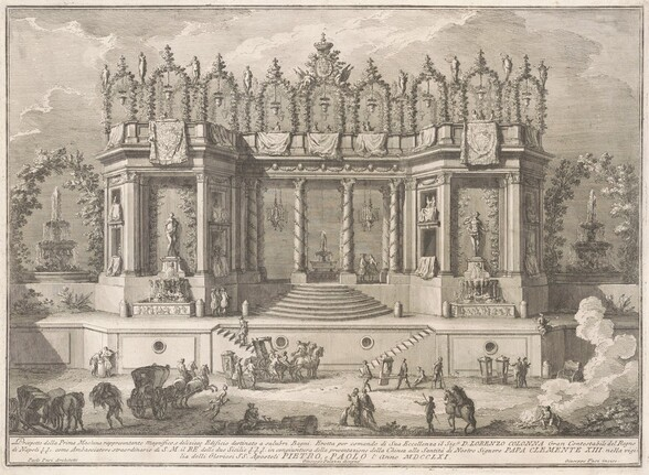 The Prima Macchina for the Chinea of 1761: The Salubrious Baths
