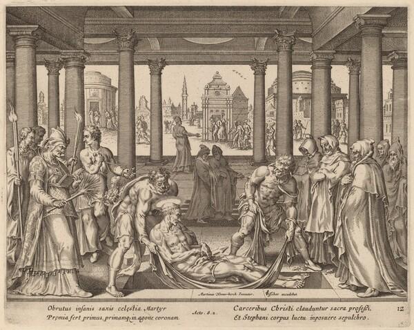 Devout Men Carrying Saint Stephen to His Burial