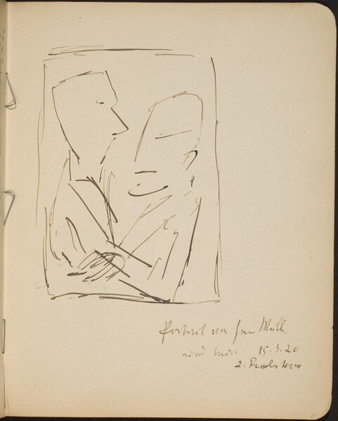 Zwei sich gegenübersitzende Männer, Bezeichnung (Two Men in Profile) [p. 27]