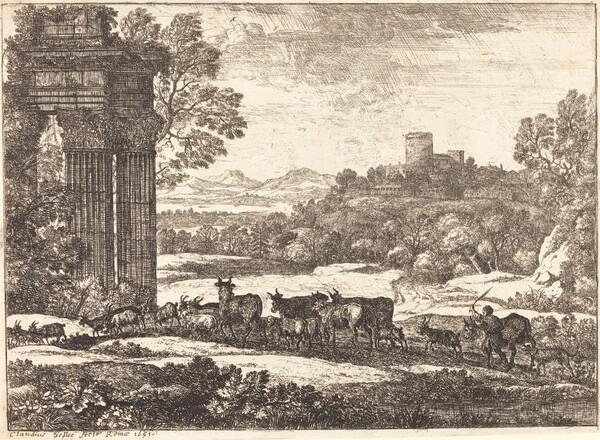 The Herd Returning in Stormy Weather (Le troupeau en marche par un temps orageux)