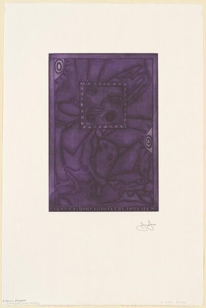 Untitled (Purple Mezzotint) [trial proof K]