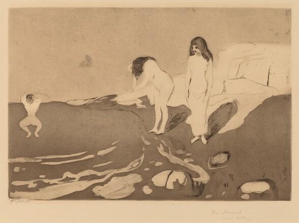 Girls Bathing (Badende Madchen)