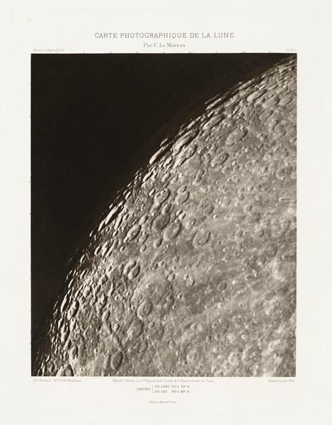Carte photographique de la lune, planche VI.A (Photographic Chart of the Moon, plate VI.A)