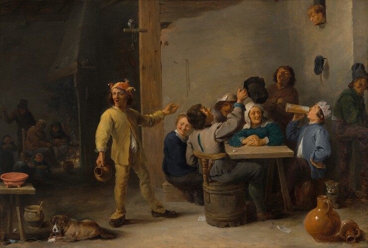 <p>David Teniers the Younger, Peasants Celebrating Twelfth Night, 1635