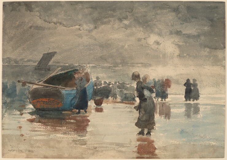 Winslow Homer, On the Sands, 1881