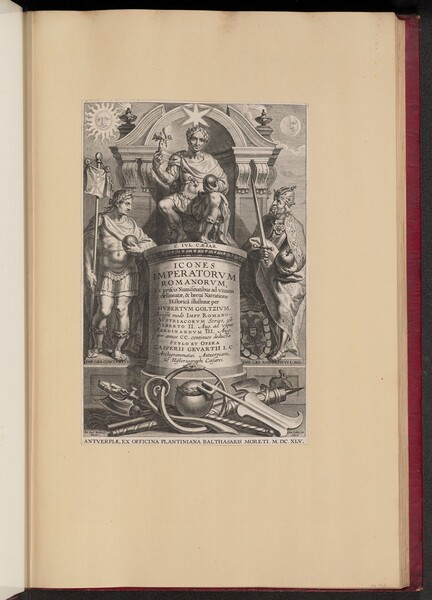 Title Page for Hubert Goltzius