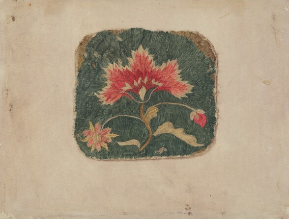Piece of Crewel Embroidery