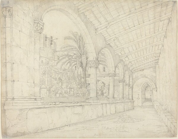 The Cloister of Santa Maria di Gesù at Palermo
