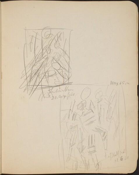 Zwei bezeichnete Skizzen (Two Sketches with Inscriptions) [p. 31]