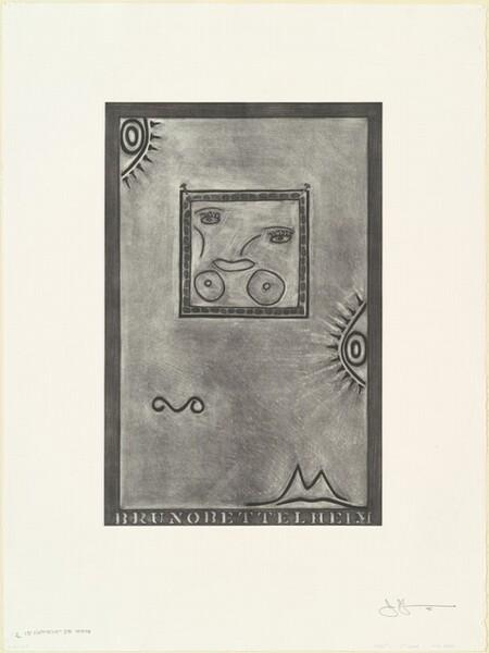 Untitled (White Mezzotint) [1st element 3rd state 1/2]