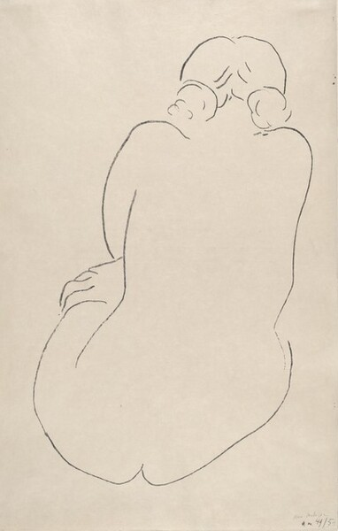 Seated Nude from the Back