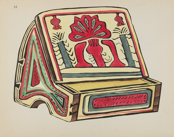 Plate 18: Reading Stand: From Portfolio Spanish Colonial Designs of New Mexico