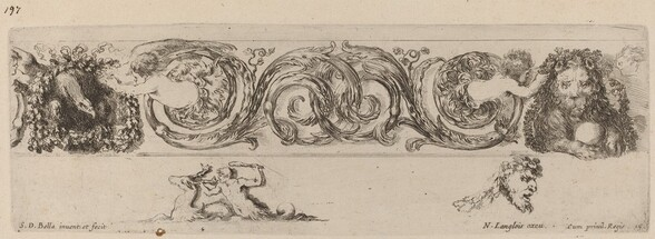 Ornamental Frieze with Eagle and Lion Engarlanded by Children