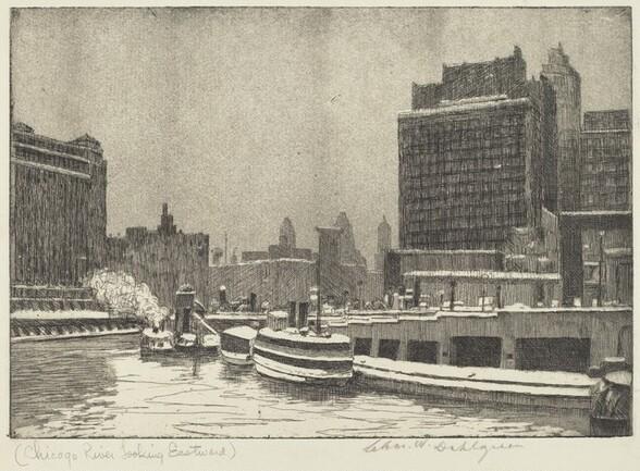 Chicago River Looking Eastward