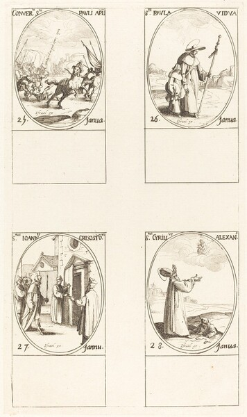 The Conversion of Saul; St. Paul; St. John Chrysostom; St. Cyril of Alexandria