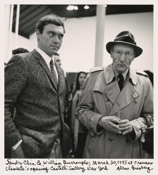 Sandro Chia & William S. Burroughs, March 30, 1985 at Francesco Clemente