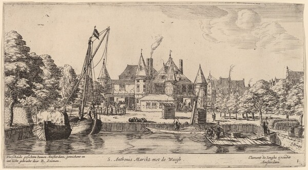 Nieuwmarkt with St. Anthoniswaag (S. Anthoni s Marckt met de Waegh)