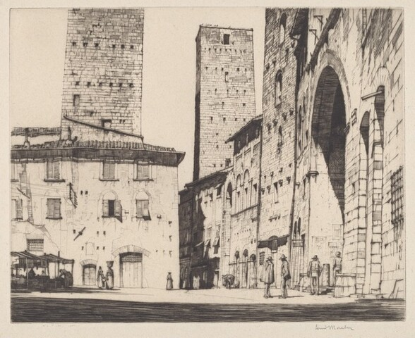 Loggia della Podesta, San Gimignano