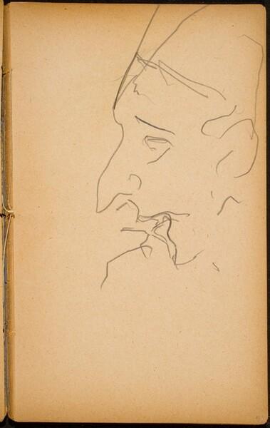 Männliche Bildnisstudie (Male Portrait) [p. 41]