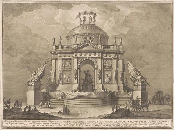 The Prima Macchina for the Chinea of 1773: The Temple of Peace
