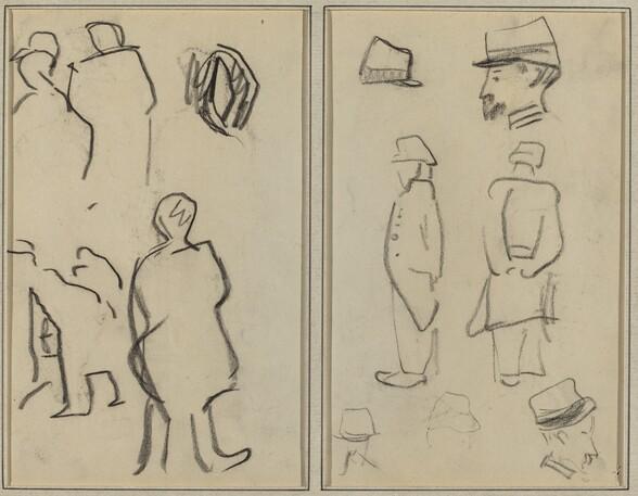 Figure Studies; Studies of Soldiers [verso]