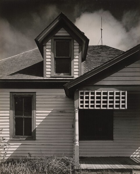 Clapboard House and Porch, Nebraska