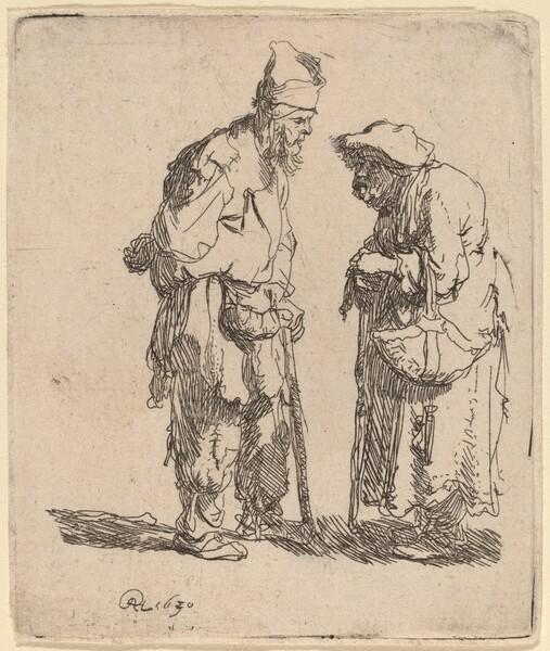 Beggar Man and Beggar Woman Conversing