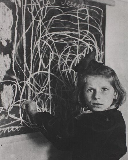 David Seymour (Chim), Terezka, A Disturbed Child in a Warsaw Orphanage, 1948, printed 1982