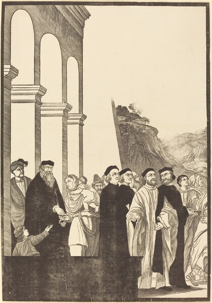Presentation of the Virgin in the Temple [left plate]