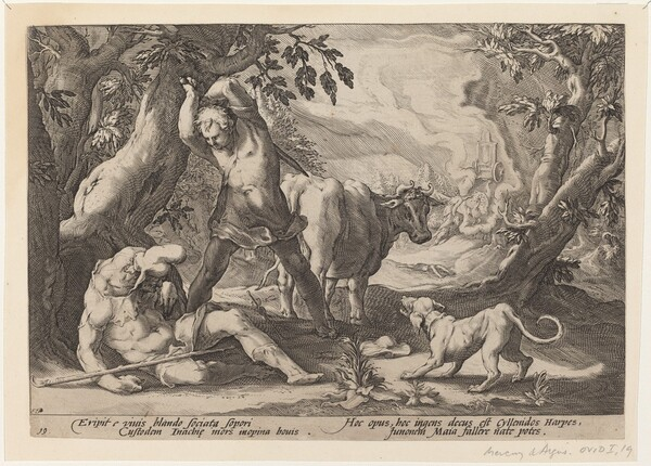 Landscape with Mercury Raising His Sword to Kill a Sleeping Argus