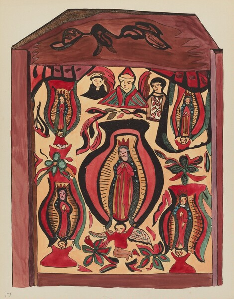 Plate 32: Our Lady of Guadalupe: From Portfolio Spanish Colonial Designs of New Mexico