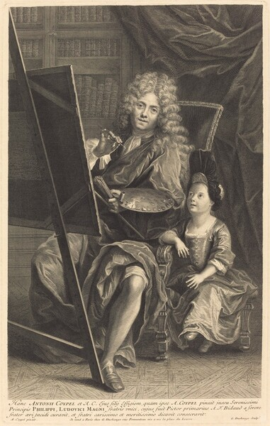Antoine Coypel and His Son
