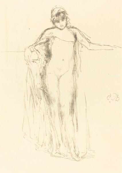 Draped Model, Standing