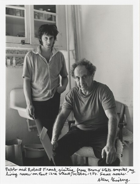 Pablo and Robert Frank visiting from Bronx State Hospital, my living room on East 12th Street, October 1984. Same noses.