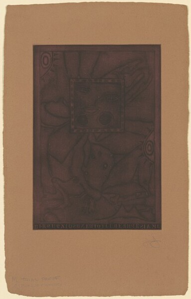 Untitled (Purple Mezzotint) [trial proof M]