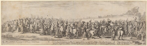 Polish Nobles, His Excellency the Ambassador, and His Carriage