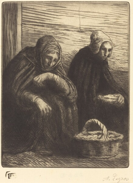 Egg-sellers, 2nd plate (Les marchandes d