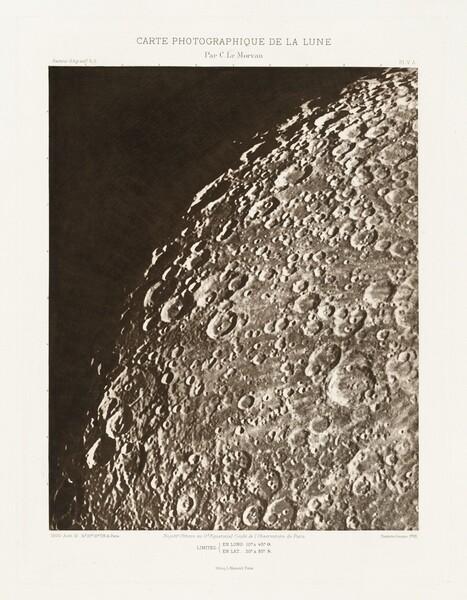 Carte photographique de la lune, planche V.A (Photographic Chart of the Moon, plate V.A)