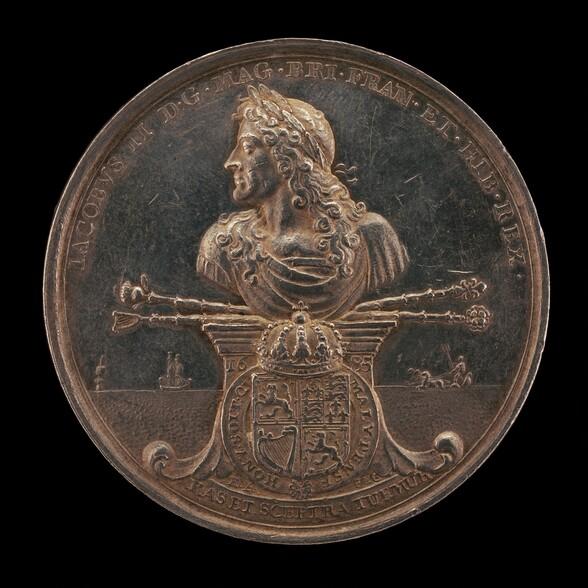 James II, 1633-1701, King of England 1685-1688 [obverse]