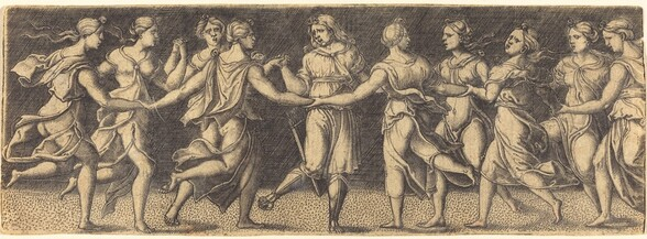 Apollo Dancing with the Nine Muses