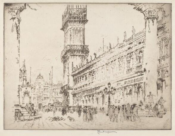 Rebuilding the Campanile, Venice, No.II