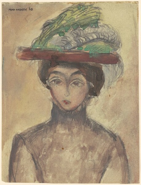 Girl with Feathered Hat