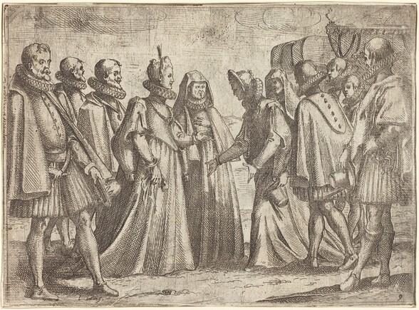 Reception at Mantua [recto]