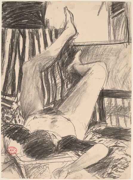 Untitled [nude resting on her back with her legs up]