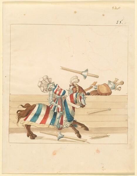 Freydal, The Book of Jousts and Tournament of Emperor Maximilian I: Combats on Horseback (Jousts)(Volume II): Plate 108