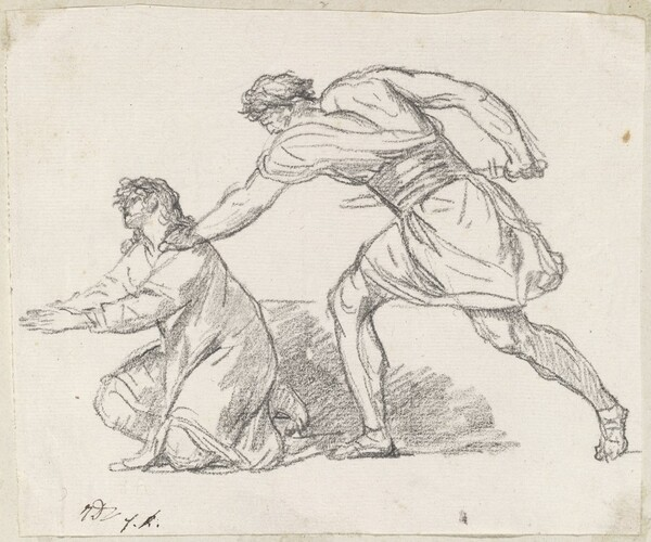 Warrior Seizing a Kneeling Figure