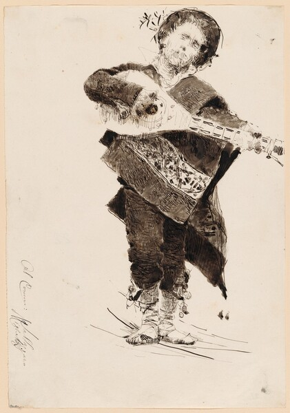 Mandolin Player in Popular Costume of Abruzzi